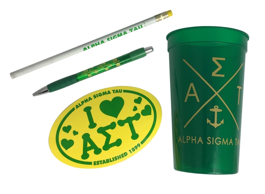 Alpha Sigma Tau Sorority Mascot Set $8.99