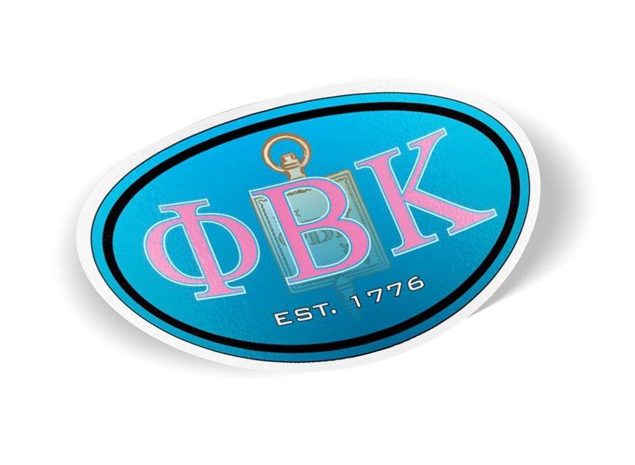 Phi Beta Kappa Color Oval Decal