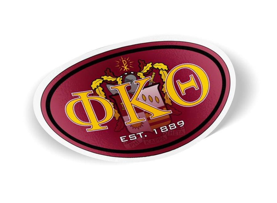 Phi Kappa Theta Color Oval Decal