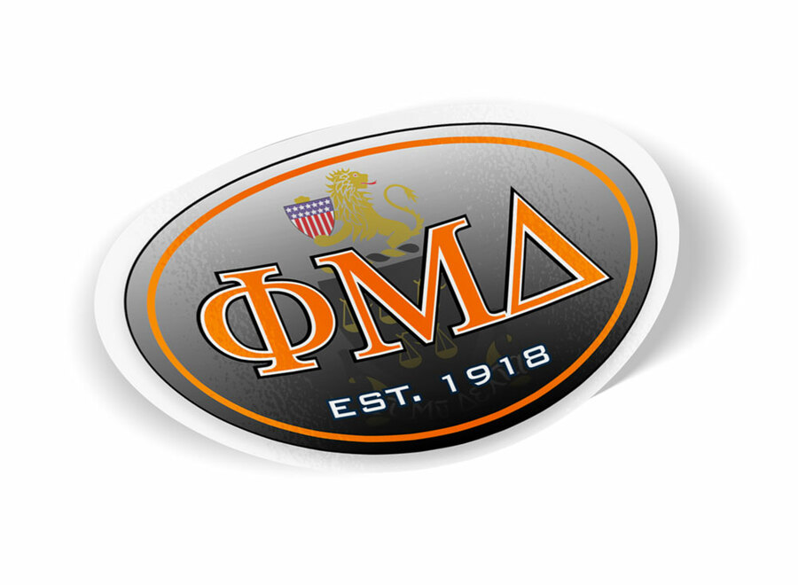 Phi Mu Delta Color Oval Decal