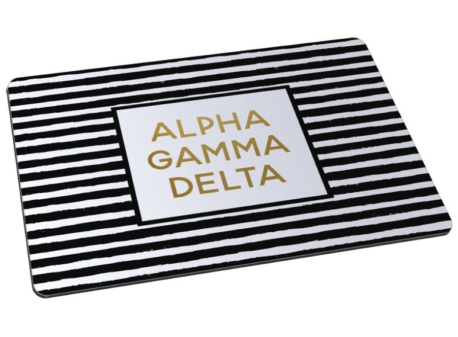Alpha Gamma Delta Striped Mousepad