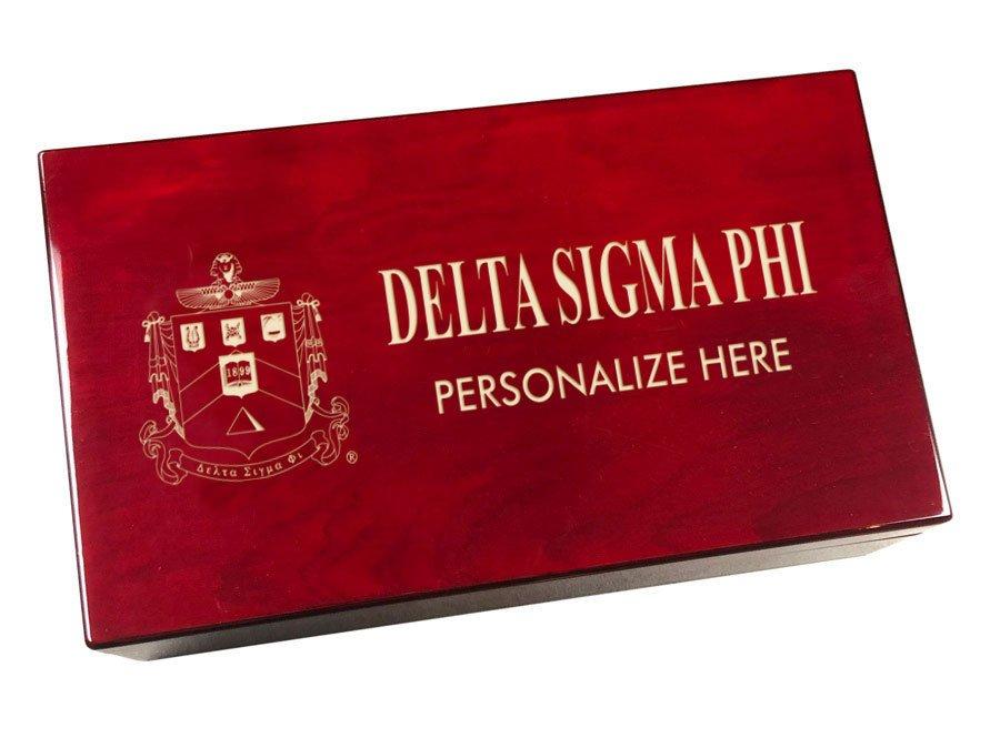 Delta Sigma Phi Engraved Gavel Set