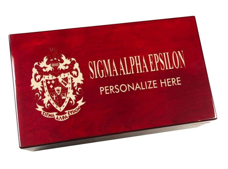 Sigma Alpha Epsilon Engraved Gavel Set
