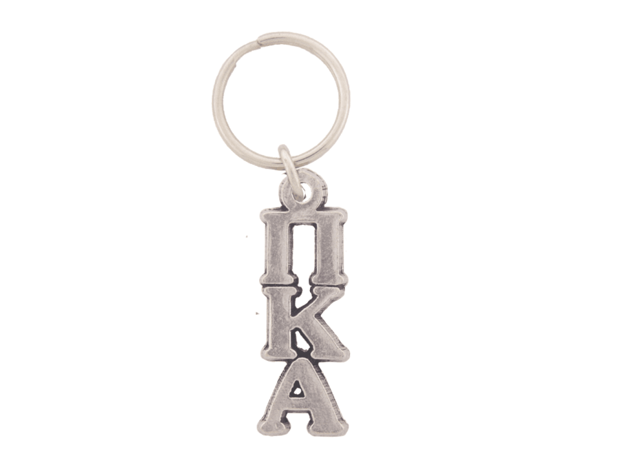 Pi Kappa Alpha Pewter Letter Key Ring