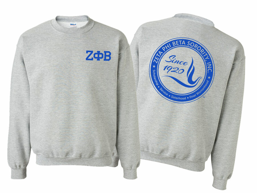 Zeta Phi Beta World Famous Crest - Shield Crewneck Sweatshirt- $25!