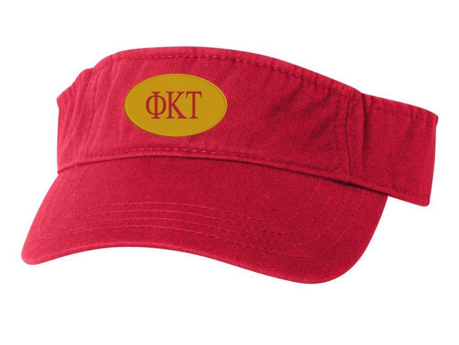 Phi Kappa Tau Greek Oval Heavy Visor