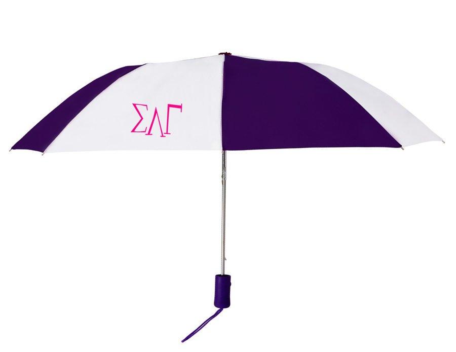 Sigma Lambda Gamma Lettered Umbrella