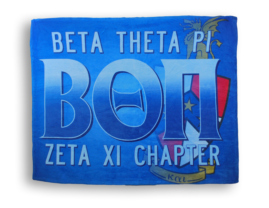 Greek Crest Velveteen Blanket