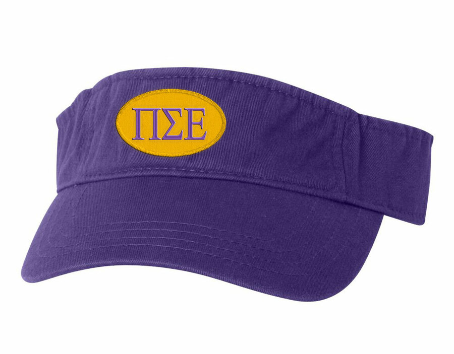 Pi Sigma Epsilon Greek Oval Heavy Visor