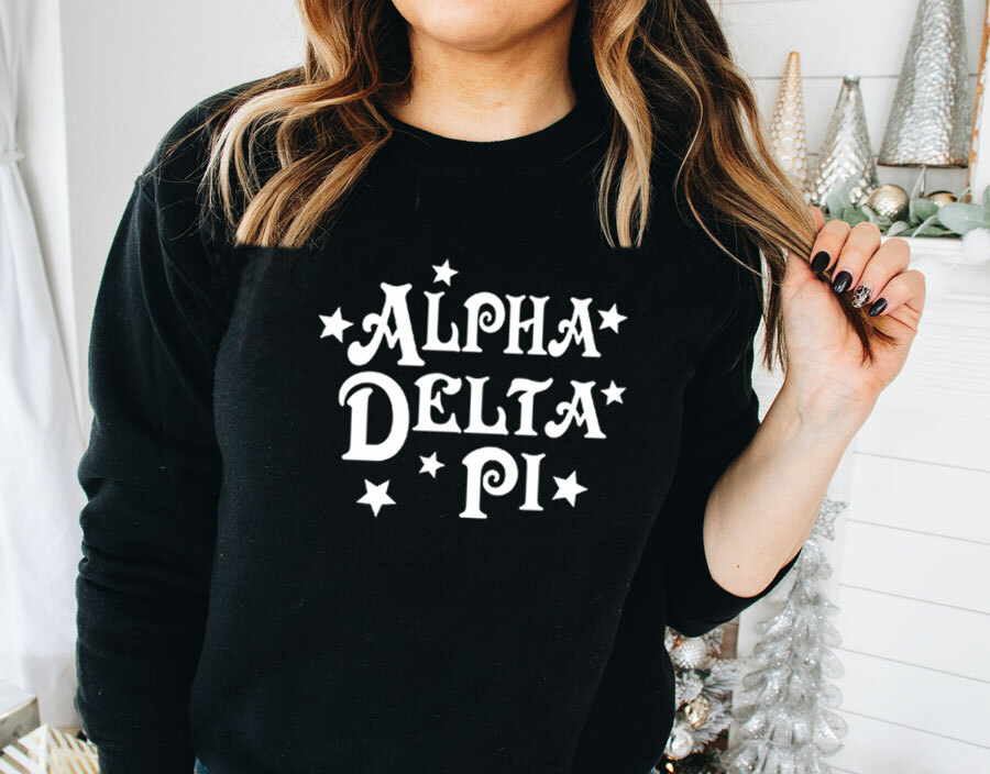 Alpha Delta Pi Comfort Colors Old School Custom Crew