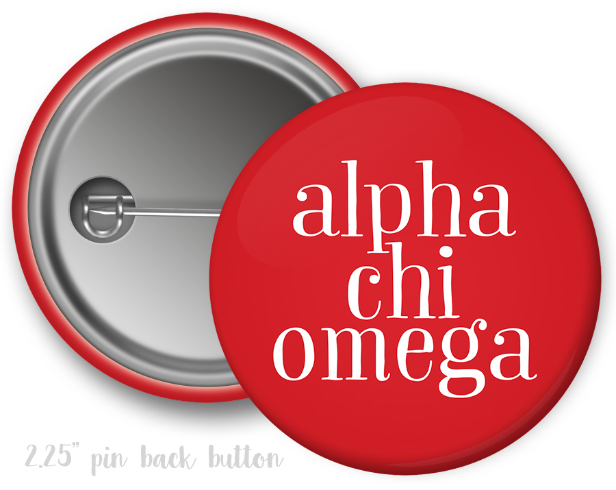 Alpha Chi Omega Simple Text Button