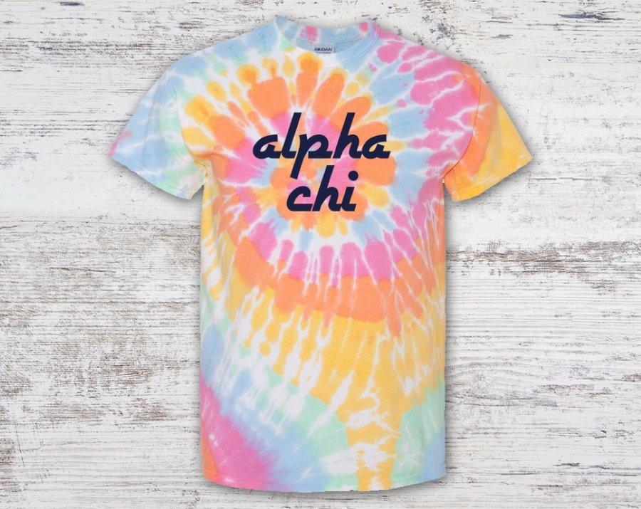 Alpha Chi Omega Tie Dye Tee