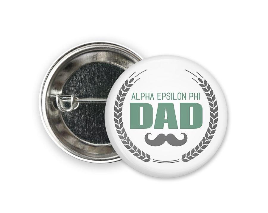 Alpha Epsilon Phi Dadstache Button