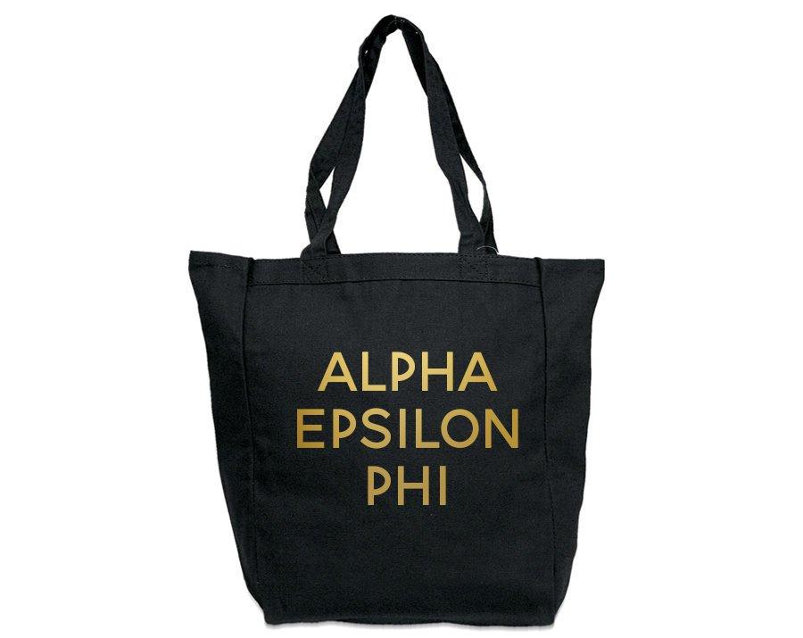 Alpha Epsilon Phi Gold Foil Tote bag