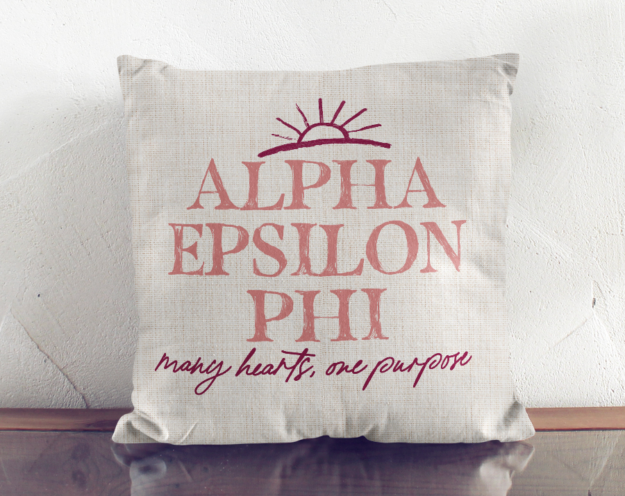 Alpha Epsilon Phi Linen Sun Pillow