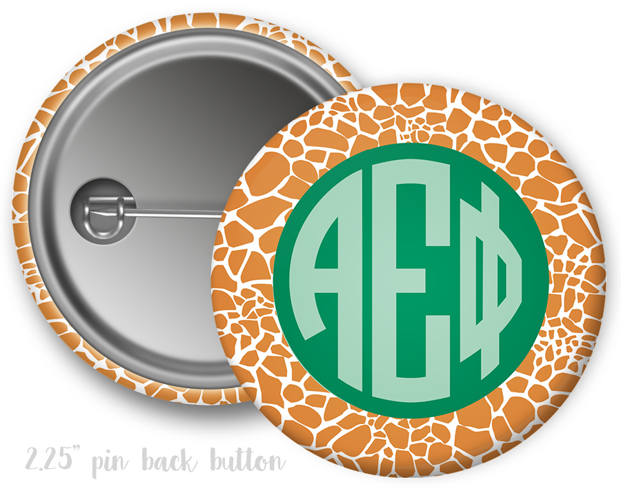 Alpha Epsilon Phi Giraffe Button