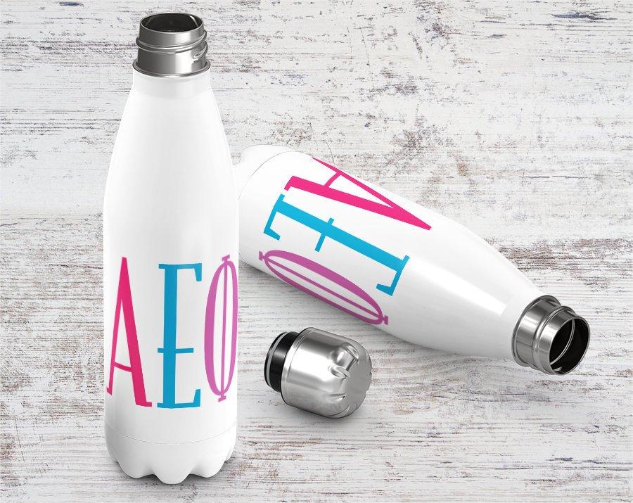 Alpha Epsilon Phi Brights Stainless Steel Water Bottle