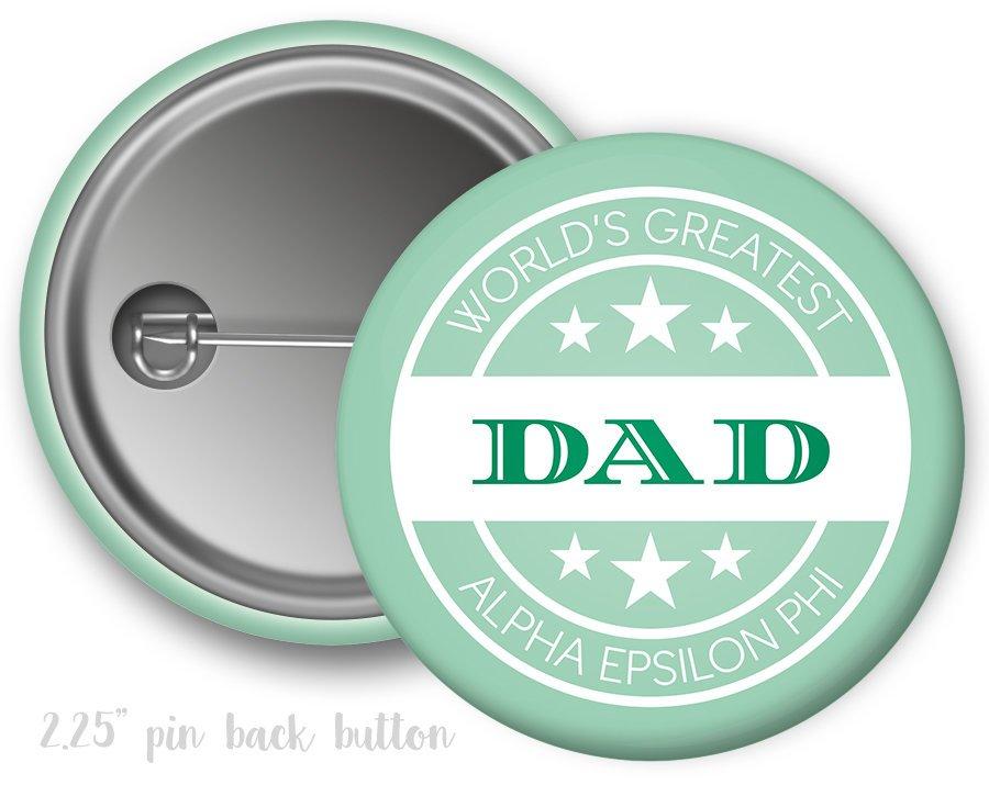 Alpha Epsilon Phi World's Greatest Dad Button