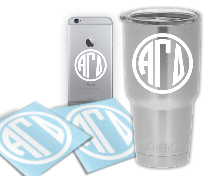 Alpha Gamma Delta Circle Decal