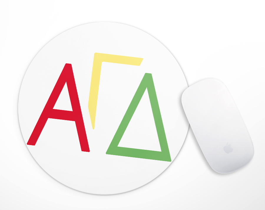 Alpha Gamma Delta Letters Mousepad