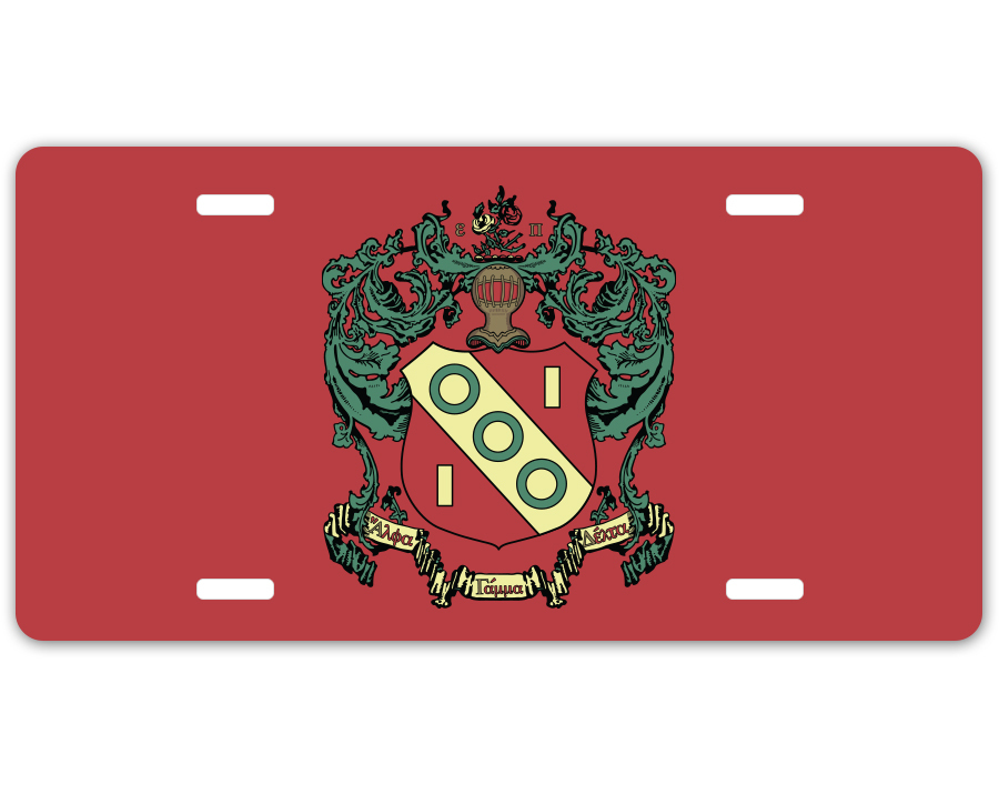 Alpha Gamma Delta Crest - Shield License Plate
