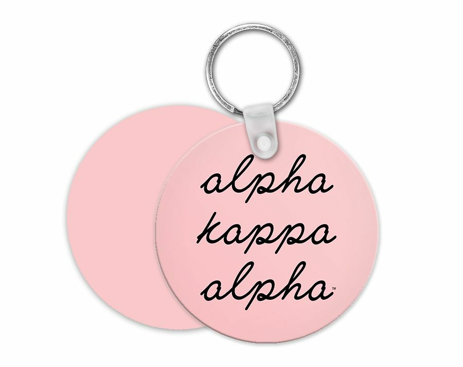 Alpha Kappa Alpha Stacked Script Keyring