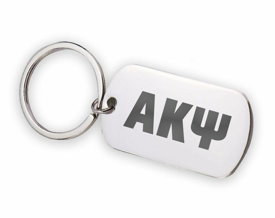 Alpha Kappa Psi Letters Stainless Keychain