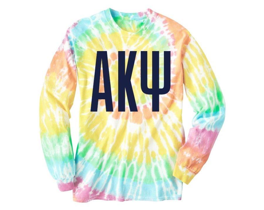 Alpha Kappa Psi Tie Dye Long Sleeve