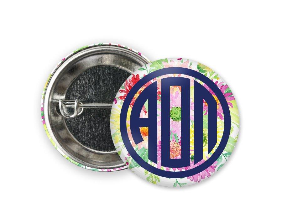 Alpha Omicron Pi Bouquet Button