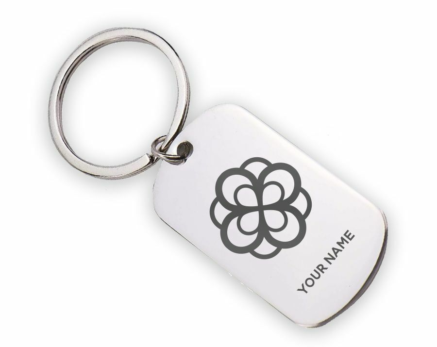 Alpha Omicron Pi Mascot Stainless Keychain