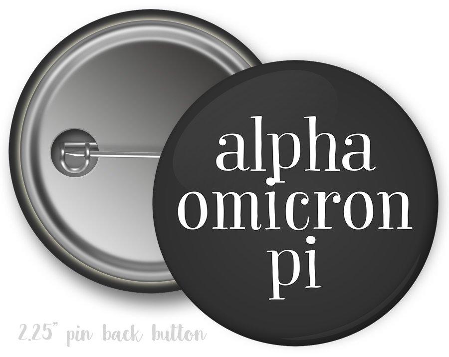Alpha Omicron Pi Simple Text Button