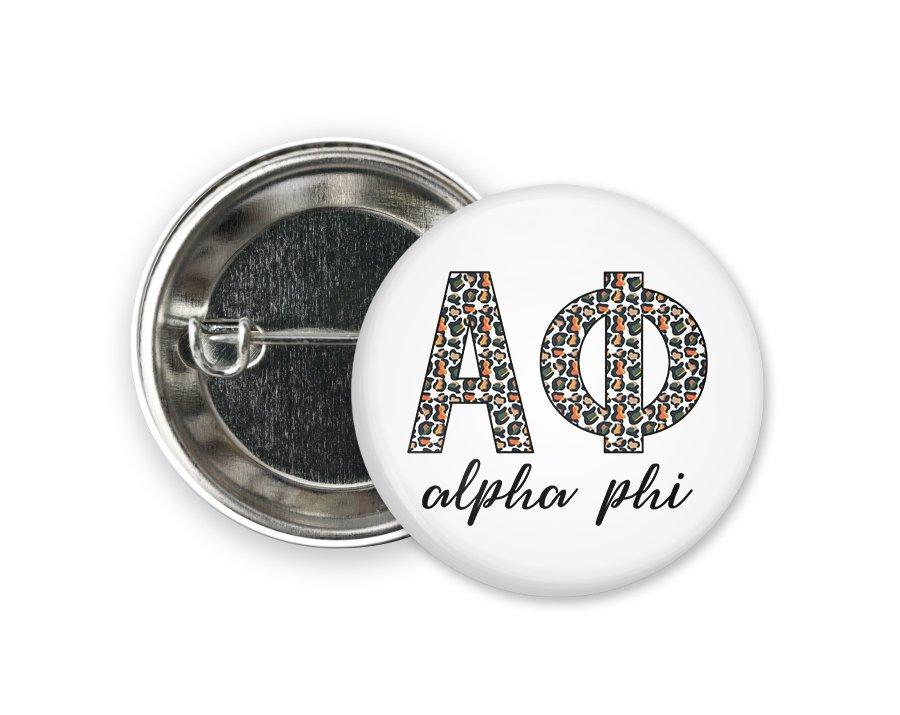 Alpha Phi Leopard Button