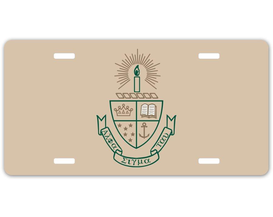 Alpha Sigma Tau Crest - Shield License Plate