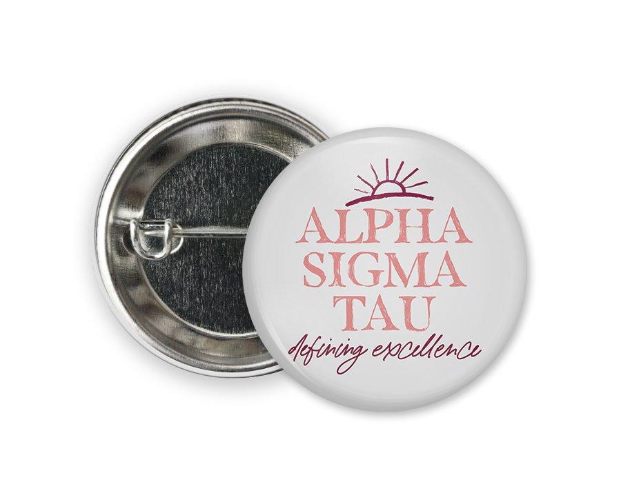 Alpha Sigma Tau Sun Button