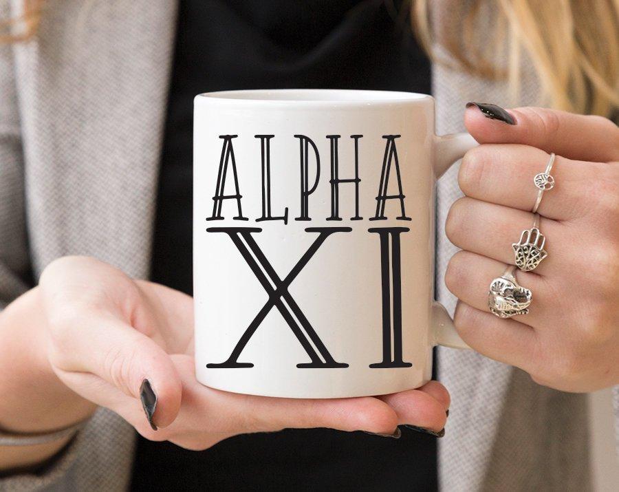 Alpha Xi Delta Inline Coffee Mug