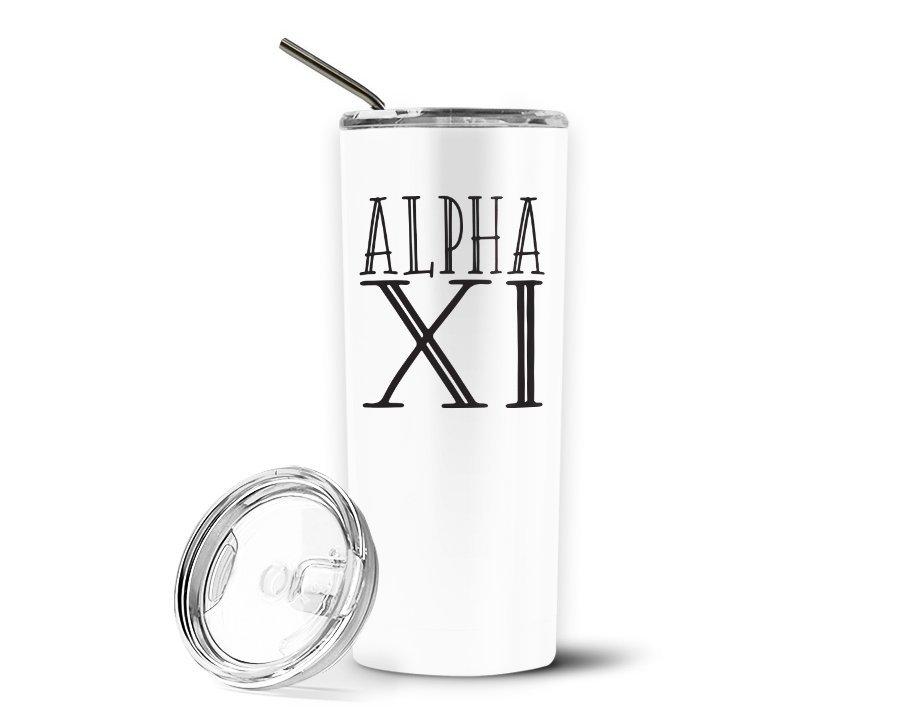 Alpha Xi Delta Inline Stainless Tumbler