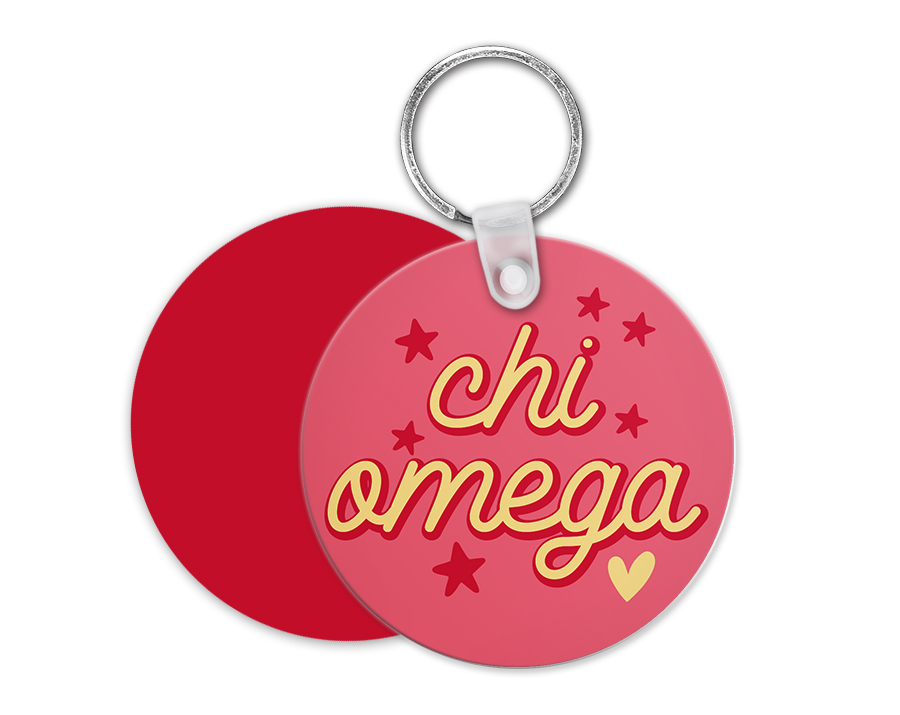 Chi Omega Star Key Chain