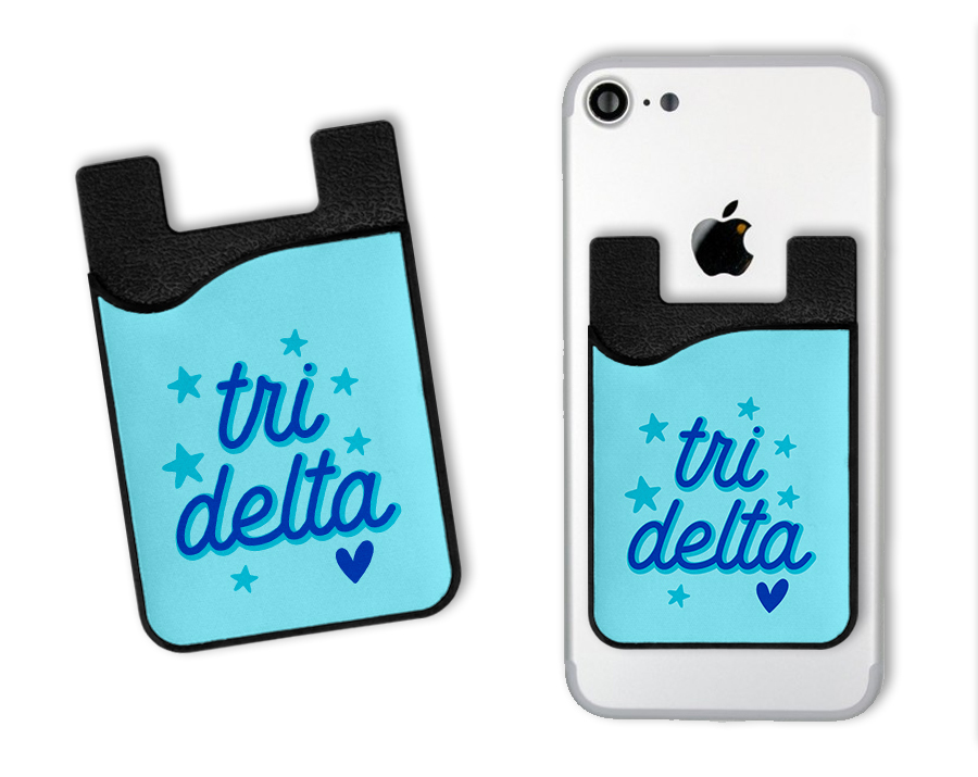 Delta Delta Delta Star Card Caddy