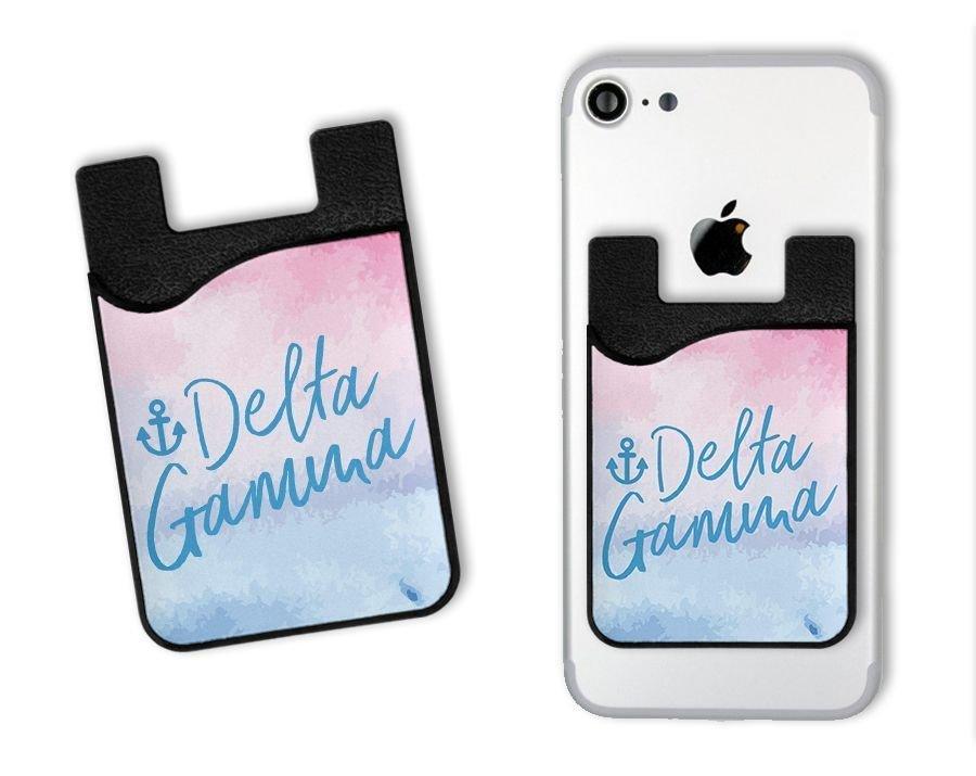 Delta Gamma Watercolor Caddy Phone Wallet