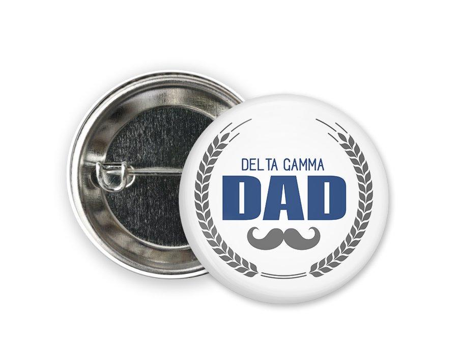 Delta Gamma Dadstache Button