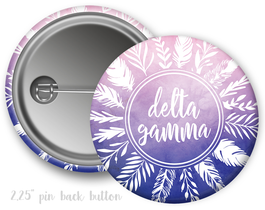 Delta Gamma Feathers Button