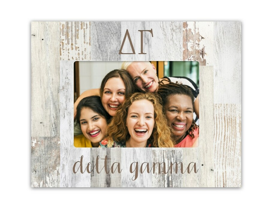 Delta Gamma Letters Barnwood Picture Frame