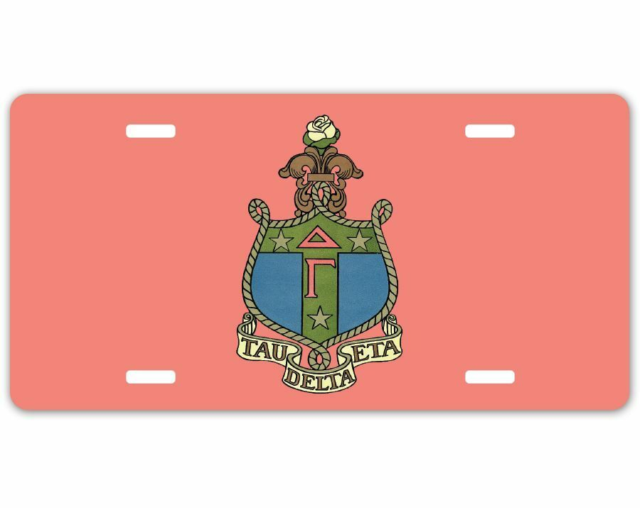Delta Gamma Crest - Shield License Plate