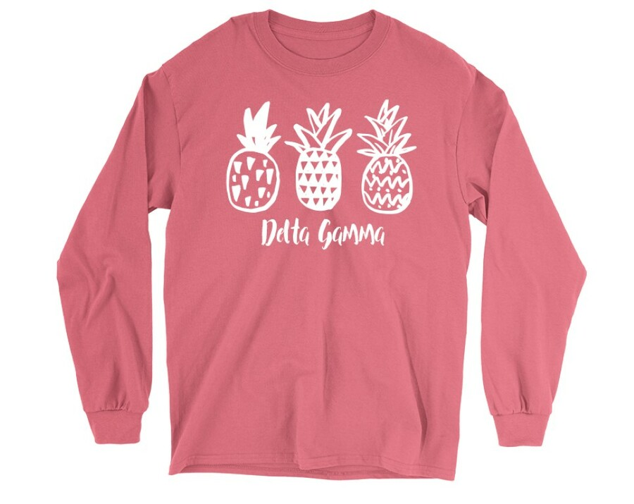 Delta Gamma Pineapple Long Sleeve