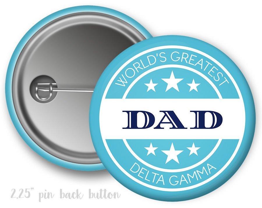 Delta Gamma World's Greatest Dad Button