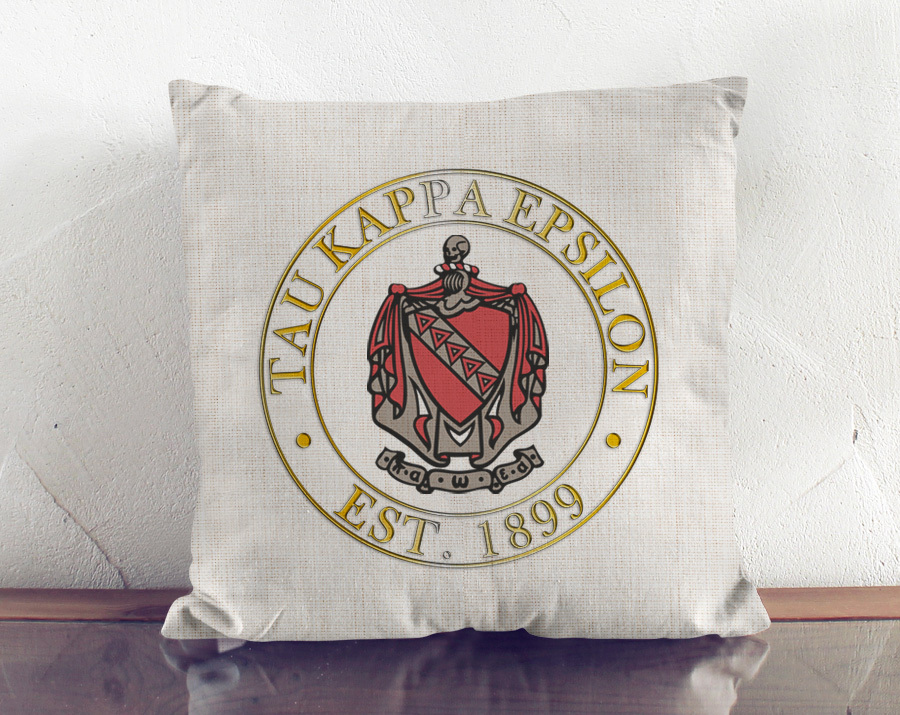 Fraternity Crest Linen Pillow