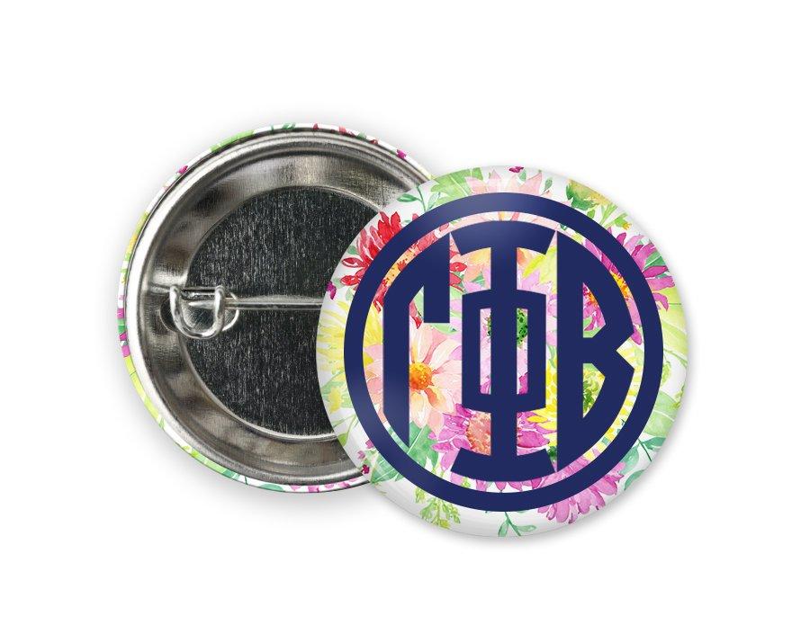 Gamma Phi Beta Bouquet Button