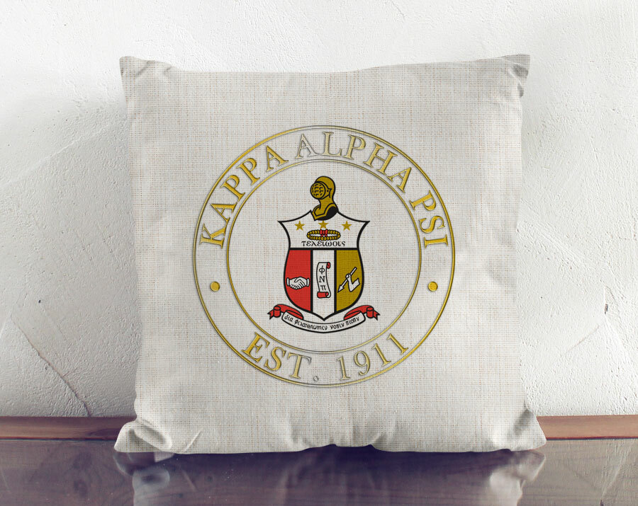 Kappa Alpha Psi Crest Linen Pillow