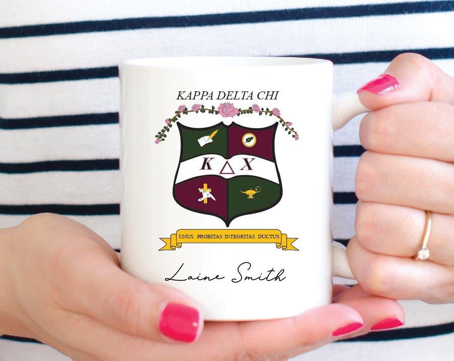 Kappa Delta Chi Custom Crest Mug