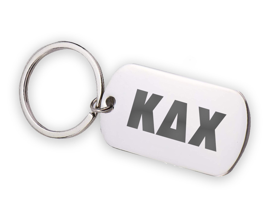 Kappa Delta Chi Letters Stainless Keychain